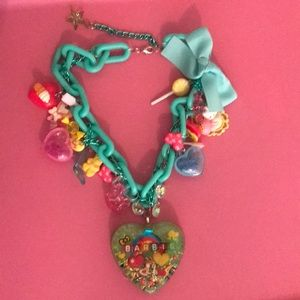 Barbie 🎀 extra large charm necklace new
